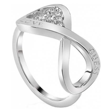 Guess Elegancki niekończący się pierścień Love UBR85004 (obwód 54 mm)