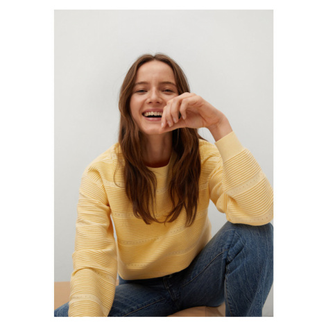 Mango Sweter Redding 87044016 Żółty Regular Fit
