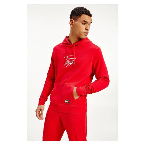 Tommy Hilfiger czerwony męska bluza Hoodie LWK z kapturem