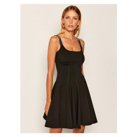 Versace Jeans Couture Sukienka letnia D2HZA412 Czarny Regular Fit