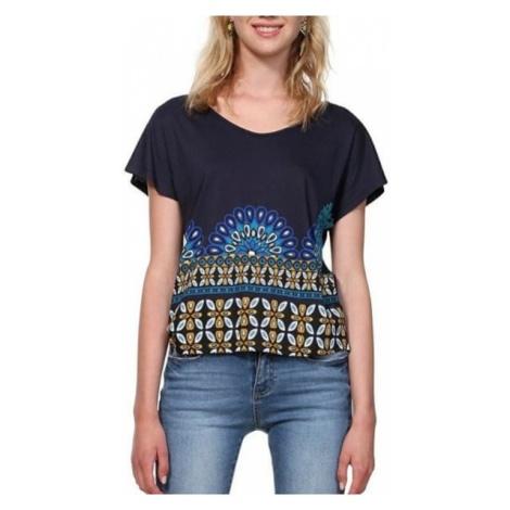 Desigual T-shirt damski TS Uma Marino 19SWTKA3 5001