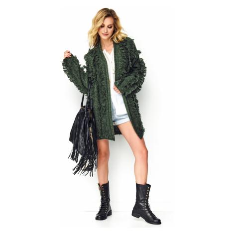 Sweter damska Makadamia Mak S81 Khaki