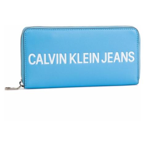 Duży Portfel Damski CALVIN KLEIN JEANS - Sculpted Logo Large Zip Around K60K605266 445