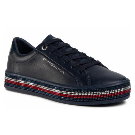 Sneakersy TOMMY HILFIGER - Jeweled Sneaker FW0FW04596 Desert Sky DW5