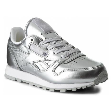 Buty Reebok - Classic Leather Metallic BS7459 Silver/White