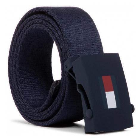 Tommy Hilfiger Pasek Dziecięcy Kids Plaque Belt AU0AU00991 Granatowy