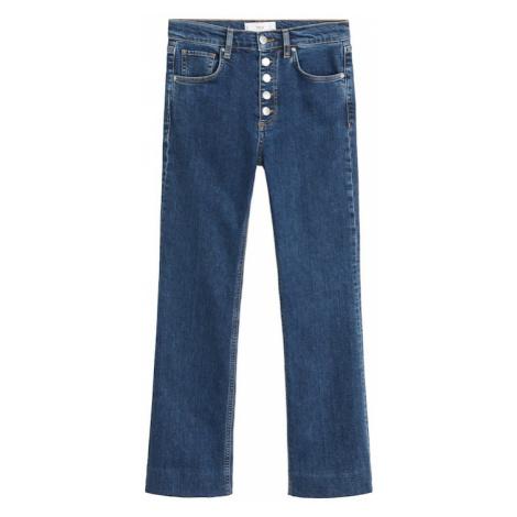 MANGO Jeansy ciemny niebieski