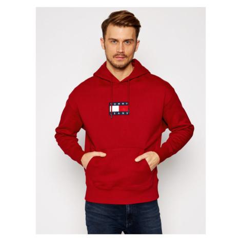 Tommy Jeans Bluza Small Flag DM0DM08726 Czerwony Regular Fit Tommy Hilfiger