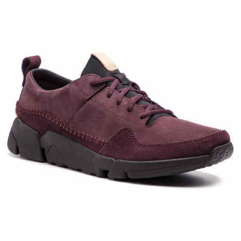 Sneakersy CLARKS - Triactive Run 261390457 Aubergine Nubuck