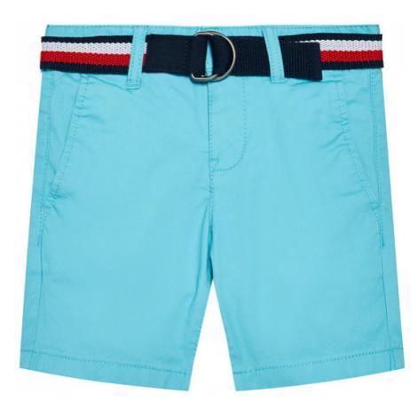 Tommy Hilfiger Szorty materiałowe Essential KB0KB05769 D Niebieski Slim Fit