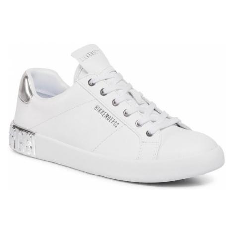 Bikkembergs Sneakersy Low Top Lace Up B4BKW0134 Biały