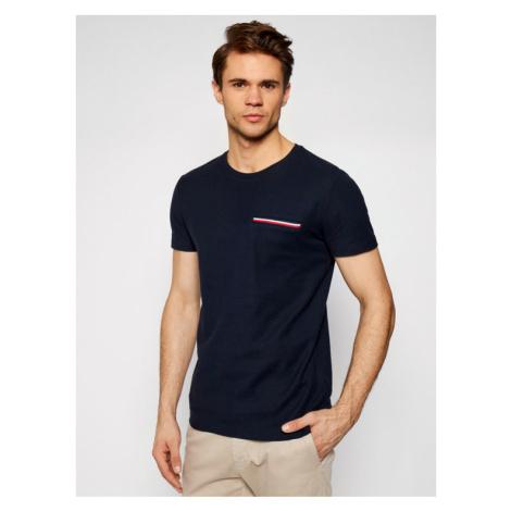 Tommy Hilfiger T-Shirt Rwb Pocket Flex Tee MW0MW16600 Granatowy Regular Fit