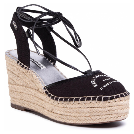 Espadryle KARL LAGERFELD - KL32208 Black Canvas