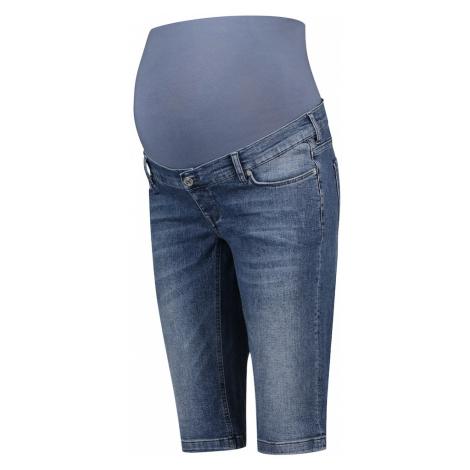 Niebieskie jeansy ciążowe