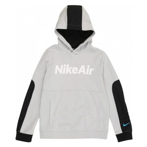 Nike Sportswear Bluza szary / biały / czarny