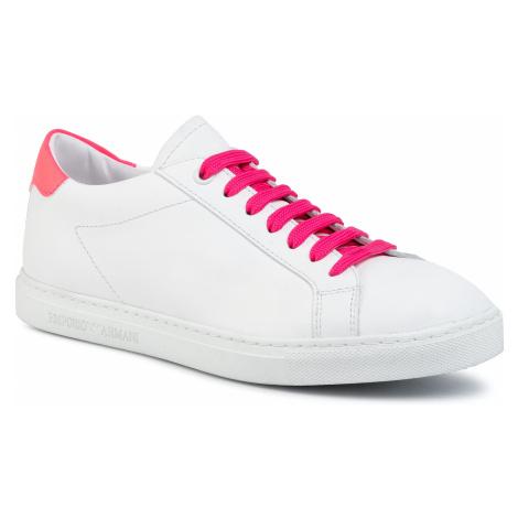 Sneakersy EMPORIO ARMANI - X3X086 XM421 M687 Opt.White/Fuxia