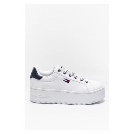 Buty Tommy Jeans Sneakery Iconic Essential Flatform En0En01358Ybr White Tommy Hilfiger