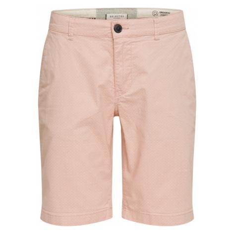 SELECTED HOMME Spodnie różowy pudrowy