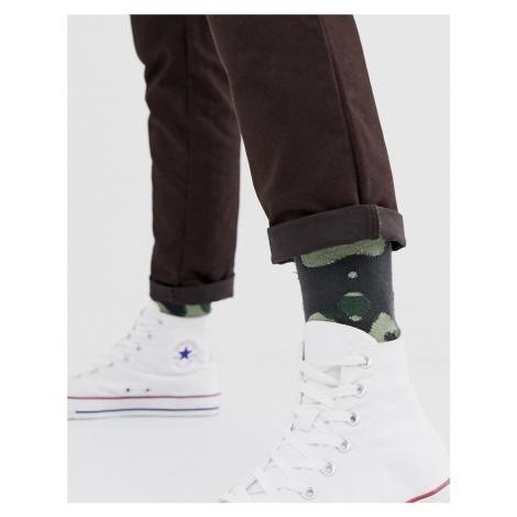 ASOS DESIGN ankle socks in camo