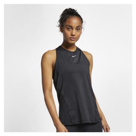 Damska siateczkowa koszulka bez rękawów Nike Pro - Czerń