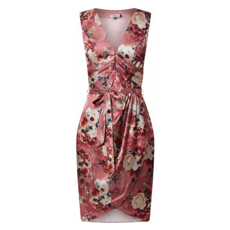 Chi Chi London Sukienka koktajlowa 'Daylla' różany / mieszane kolory / koralowy