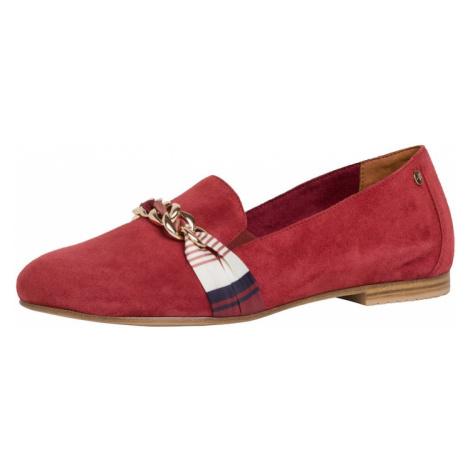 TAMARIS Pantofle ciemny niebieski / czerwony / biały