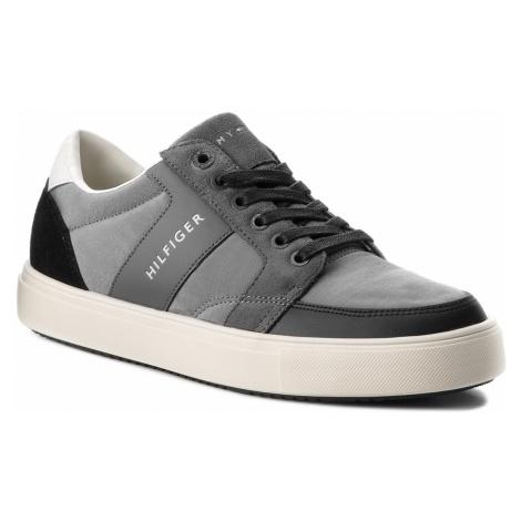 Sneakersy TOMMY HILFIGER - Lightweight Color Block Low Cut FM0FM01635 Grey/Black 903