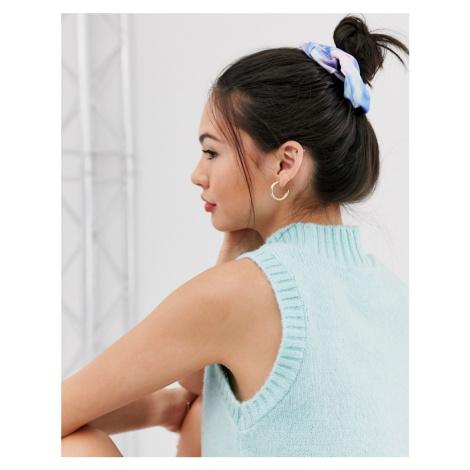 ASOS DESIGN scrunchie in tie dye print