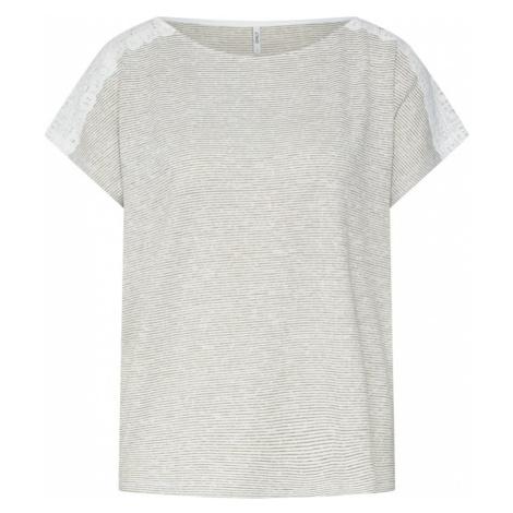 ONLY Koszulka 'MIRA' oliwkowy / biały