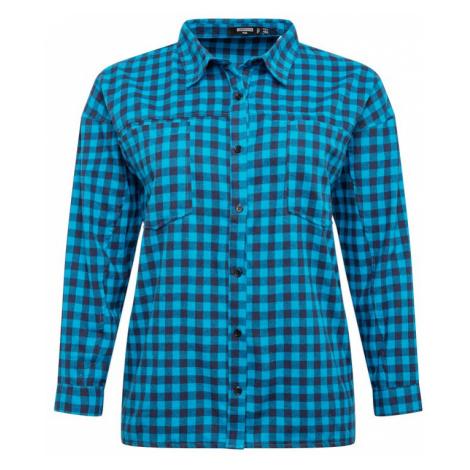 Missguided Plus Bluzka niebieski / czarny / nakrapiany czarny