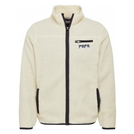 Pepe Jeans Bluza rozpinana 'GRIFFIN' biały / czarny