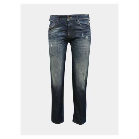 Niebieskie damskie jeansy slim fit Diesel