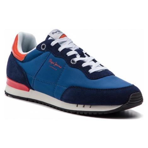 Sneakersy PEPE JEANS - Tinker Basic Nylon PMS30505 Marine 585