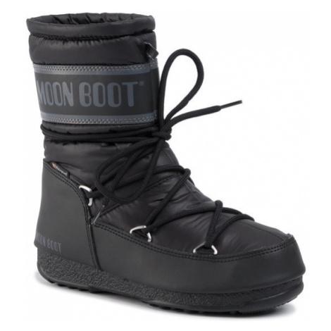 Moon Boot Śniegowce Mid Nylon Wp 24009200001 Czarny
