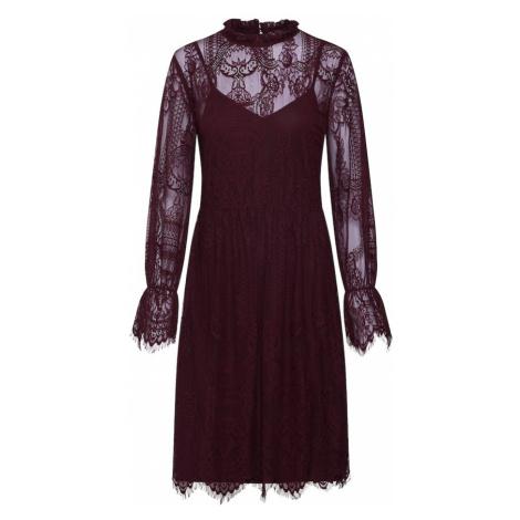VILA Sukienka koktajlowa burgund