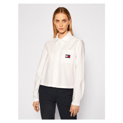 Tommy Jeans Koszula Tjw Badge Pocket DW0DW08918 Biały Loose Fit Tommy Hilfiger