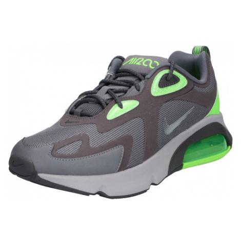 Nike Sportswear Trampki niskie 'AIR MAX 200 WTR' szary dym / neonowa zieleń