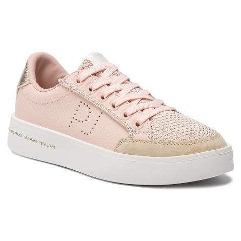 Sneakersy PEPE JEANS - PLS30822 Mauve Pink 319