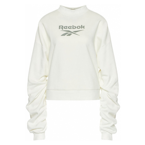 Reebok Bluza Classics Mock Neck Crew GN4960 Biały Relaxed Fit
