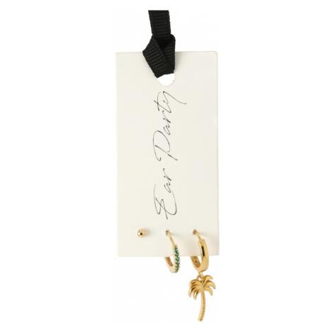 Orelia Zestaw biżuterii 'Ear Party' zielony / złoty
