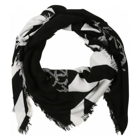 Calvin Klein Chusta 'QUILT FOULARD SCARF' czarny / biały