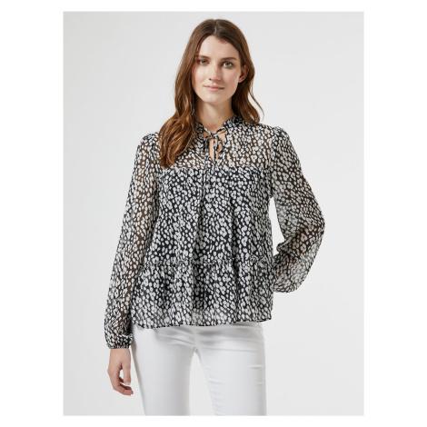 Biało-czarna wzorzysta bluzka Dorothy Perkins