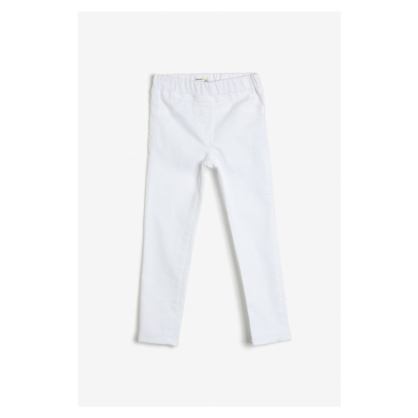 Koton Men's White Pocket Detailed Trousers