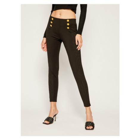 The Kooples Spodnie materiałowe Fleece & Triangle Stitch FJOG18018S Czarny Slim Fit