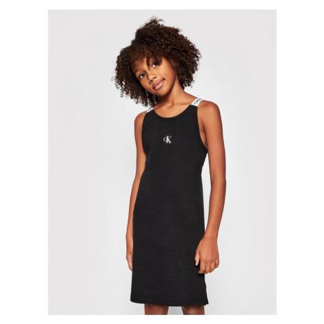 Calvin Klein Jeans Sukienka codzienna Logo Tape IG0IG00924 Czarny Slim Fit