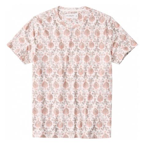 Abercrombie & Fitch Koszulka biały / różowy pudrowy