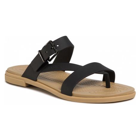 Japonki CROCS - Tulum Toe Post Sandal W 206108 Black/Tan