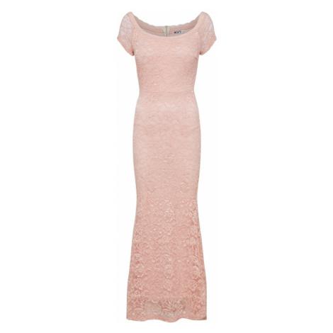 WAL G. Suknia wieczorowa różowy pudrowy