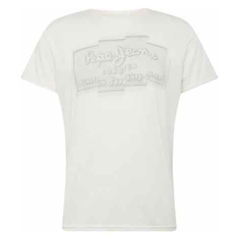 Pepe Jeans Koszulka 'IZZO' jasnoszary / biały