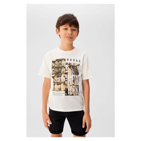 Mango Kids - T-shirt dziecięcy Bronx 110-164 cm
